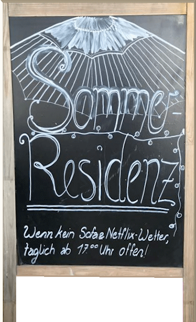 sommerresidenz we are open