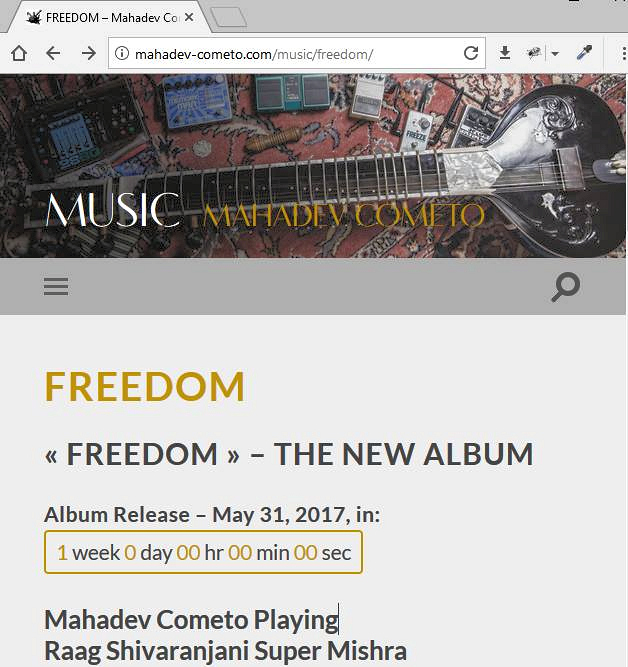 Freedom Album 2017 with counter
